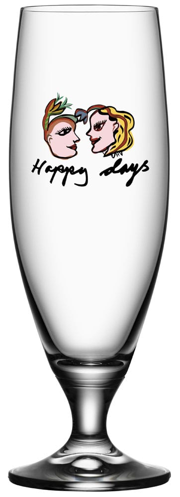 Kosta Boda Friendship Ölglas Happy Days 50 cl