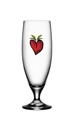 Kosta Boda Friendship Hearts Ölglas 50 cl
